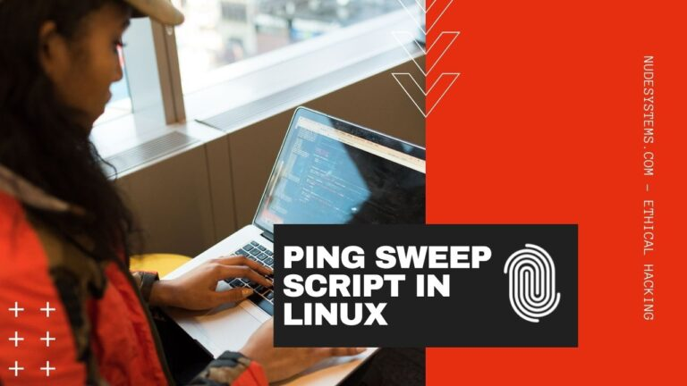 CODE A PING SWEEP SCRIPT IN LINUX IN 5 MINUTES. Source: nudesystems.com
