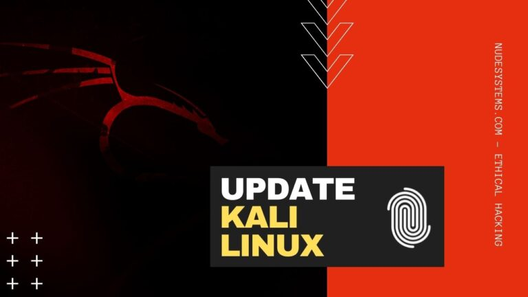 Update Kali Linux System Packages [2021.x]. Source: nudesystems.com