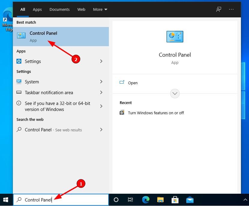 Virtual Hacking Lab - Access Windows 10 Control Panel. Source: nudesystems.com