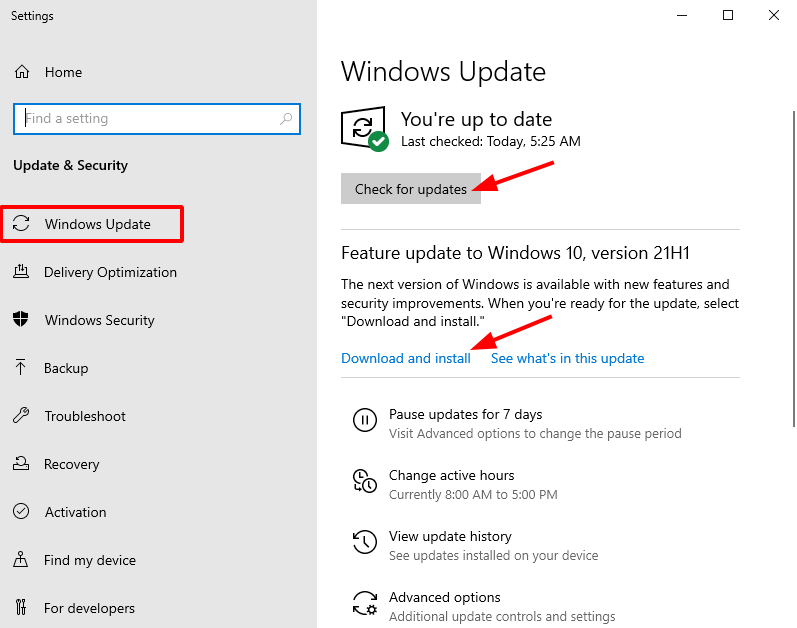 Virtual Hacking Lab - Update Windows 10. Source: nudesystems.com
