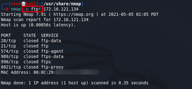 [NMAP Scan Any Port]: Fast Scan Flag. Source: nudesystems.com