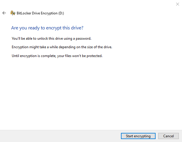 TPM Continue with BitLocker drive encryption. Source: nudesystems.com